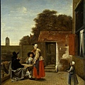 A Dutch Courtyard 1658-1660