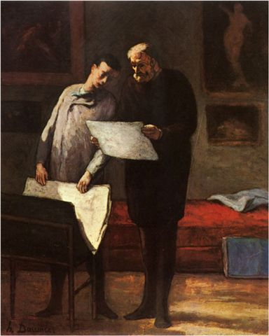 Daumier-Advice to a Young Artist 給年輕藝術家的忠告