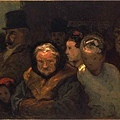 Daumier-Leaving the Theater 離開劇院