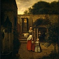 Woman and Child ina Courtyard 1658-1660