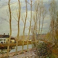 sisley-在莫瑞的廬安運河﹝The Loing Canal at Moret﹞1892.jpg