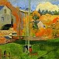 gauguin-不列塔尼的風景﹝Breton Landscape﹞