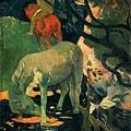gauguin-白馬﹝The White Horse﹞