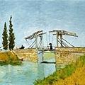 Van Gogh - 曳起橋與打傘女士