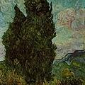 Van Gogh - 兩棵絲柏樹﹝Two Cypresse﹞