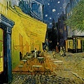 Van Gogh - 夜晚露天咖啡座﹝Cafe Terrace at Night﹞1888