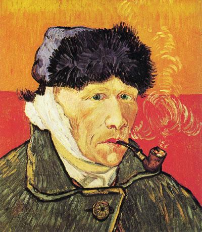 Van Gogh - 自畫像(割耳)