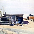 Edward Hopper - Adobes And Shed New Mexico