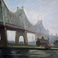 Edward Hopper - Queensborough Bridge, 1913 Oil on Canvas