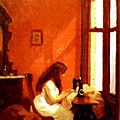 Edward Hopper - sewing