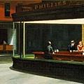 夜鷹, (Nighthawks)1942年, 現藏於芝加哥藝術學院