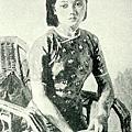 李石樵--坐像‧第六回府展‧《推薦》‧1943年‧民國32年‧昭和18年 ‧油畫