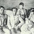 李石樵--初孫‧第一回府展‧《無鑑查》‧1938年‧民國27年‧昭和13年 ‧油畫
