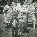 李石樵--庭先子供達‧第四回府展‧1941年‧民國30年‧昭和16年 ‧油畫