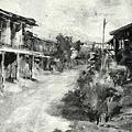 李澤藩--夏午后‧第二回台展‧1928年‧民國17年‧昭和3年 ‧油畫