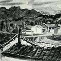 李澤藩--馬武督連山‧第二回府展‧1939年‧民國28年‧昭和14年 ‧油畫