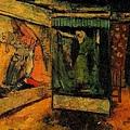 許聲基(呂基正) ‧商品陳列窗(彩圖) ‧第八回台展‧1934年‧民國23年‧昭和9年 ‧油畫 ‧53×65cm