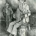 楊佐三郎(楊三郎) --老藝人‧第四回台展‧《無鑑查》‧1930年‧民國19年‧昭和5年 ‧油畫