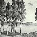 楊佐三郎(楊三郎) --初秋湖畔‧第三回府展‧1940年‧民國29年‧昭和15年 ‧油畫