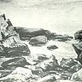 楊佐三郎(楊三郎) --船團南行‧第六回府展‧《推薦》‧1943年‧民國32年‧昭和18年 ‧油畫