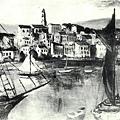 楊佐三郎(楊三郎)--南歐一‧第八回台展‧《特選》‧1934年‧民國23年‧昭和9年 ‧油畫