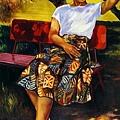 楊啟東--盛夏‧1980‧油彩、畫布‧116.5×80cm‧台灣省立美術館收藏