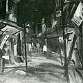 楊啟東--街頭夜色‧第十回台展‧1936年‧民國25年‧昭和11年 ‧油畫