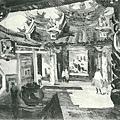 楊啟東--廟內‧第八回台展‧1934年‧民國23年‧昭和9年 ‧油畫