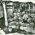 葉火城--午后果物屋‧第六回台展‧1932年‧民國21年‧昭和7年 ‧油畫