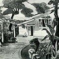 葉火城--庭‧第三回府展‧1940年‧民國29年‧昭和15年 ‧油畫
