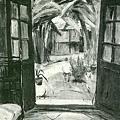 廖繼春‧庭‧第五回台展‧《台日賞》‧1931年‧民國20年‧昭和6年 ‧油畫