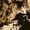 傅抱石    聽泉圖 1963