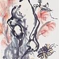 黃賓虹  設色花卉