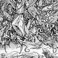 Durer 杜勒-St. Michael's fight against the dragon-1498