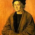 durer-Portrait of Durer's Father at 70 (1497)