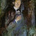 munch-手持香菸的自畫像﹝Self Portrait with Cigarette﹞1895