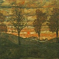 schiele.four-trees