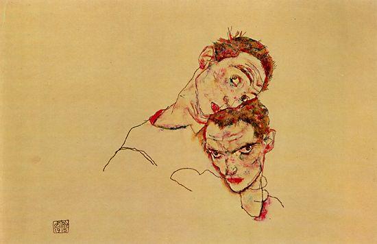 schiele-double-portrait
