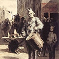 Honore Daumier - Clown Playing