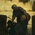 Honore Daumier - Laveuse au Quai d'Anjou (Laundress on the Quai d'Anjou)