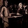 Daumier - gravure joueur d'Orgue