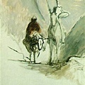 Honore Daumier - Don Quixote and he Dead Mule