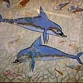 克諾索斯皇宮內的壁畫 - 海豚.jpg