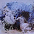 Odilon Redon - 麗達與天鵝