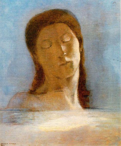 redon_Les yeux clos (Closed Eyes) 1890