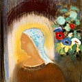 redon_Profile and Flowers 1912