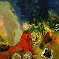 redon_The Red Sphinx  1912