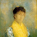 redon_Woman with a Yellow Bodice 1899