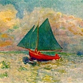red-Red Boat with Blue Sail 1906-07