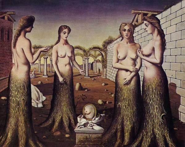 Paul delvaux - la nascita del giorno 1937 venezia coll Peggy Guggenheim